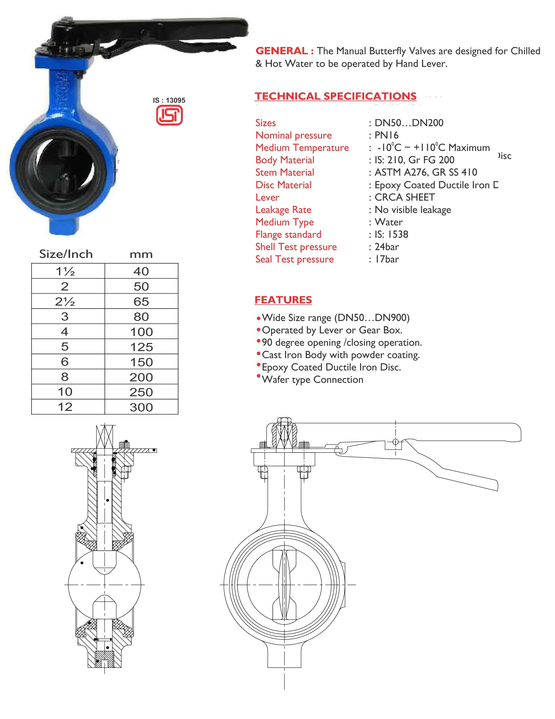 Butterfly Valve (Manual Type)